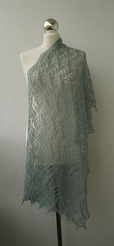 Ravelry: Chinese Lace Stole - Cast on 123 Stitches, and follow chart. :) chart is included