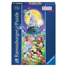Puzzle 1000 pièces panoramique : Le château de Disney - Ravensburger-15056