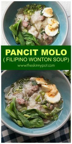PANCIT MOLO ( FILIPINO WONTON SOUP) Here's the broth from the Baby Back Pork ribs which I posted last week. I separated the ribs from the broth and let the broth cool down and then I put the crock pot it in the fridge and remove the fat which resides on top. If you are scared of fat, you can toss the broth and use a low sodium Chicken broth instead.