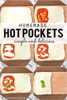 Easy recipe for homemade hot pockets! So much healthier than store-bought and there's no fake ingredients, just real food! Perfect clean eating lunch idea too for school lunches! :: DontWastetheCrumbs.com