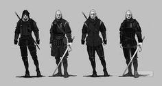 Witcher 3 Geralt armor concept arts 1 by Scratcherpen