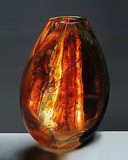"Ventana plana por Randi Solin (Art florero de cristal) (13 ""x 10"")"