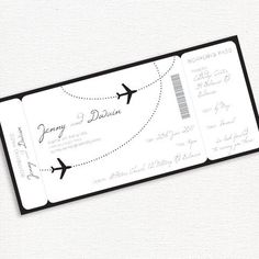 simply elegant boarding pass - printable DIY wedding invitation by idoityourself