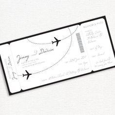 simply elegant boarding pass - printable DIY wedding invitation by idoityourself