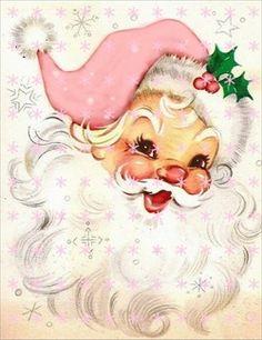 Shabby Christmas Santa♡ Christmas is coming very close! Vintage Christmas Images, Vintage Holiday, Christmas Pictures, Noel Christmas, Retro Christmas, Christmas Greetings, Christmas Mantles, Victorian Christmas, Father Christmas
