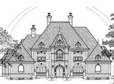 Eplans Chateau House Plan - Four Bedroom Chateauesque - 4955 Square Feet and 4 Bedrooms(s) from Eplans - House Plan Code HWEPL60649