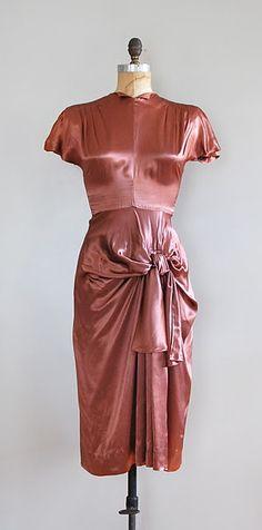 1940s satin dress.