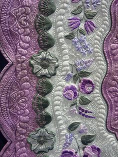 #quilt  Unbelievable stitch work.