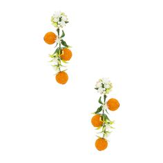 Mercedes Salazar Fiesta Orange Tree Earrings