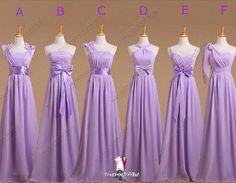 Full length Convertible Dress in lavender light purple Infinity ...