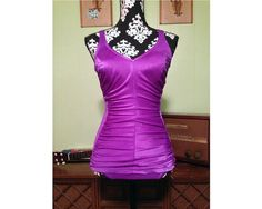 1950s Vintage Violet Swimsuit by StardustVintageRetro on Etsy