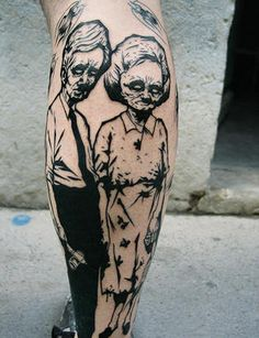 old folks as a tattoo