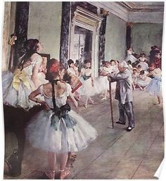 The Dance Class by Edgar Degas, Vintage Ballet Art Barely There iPhone 6 Plus Case Edgar Degas, Degas Ballerina, Ballerina Painting, Ballerine Degas, Art Ballet, Ballet Dancers, Ballet Body, Famous Impressionists, Degas Paintings