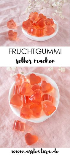 Make fruit jelly yourself - DIY gift for Mother's Day ars-Fruchtgummi selber machen – DIY Geschenk zum Muttertag Diy Gifts For Mothers, Mother Day Gifts, Mothers Day Decoration, Making Gummy Bears, Fruit Gums, Chocolate Caliente, Mother's Day Diy, Jar Gifts, Jelly Beans