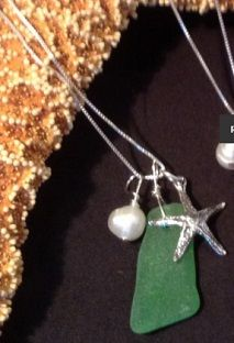 Jackie Gallagher Designs.  Each piece of jewelry is designed and handcrafted using all natural handpicked materials.
