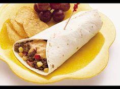 Käse-Mais-Burger-Wraps