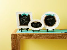 How to Make Adorable Chalkboards from Old Plates