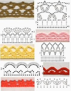 mooie haakrandjes - cute crochet edgings