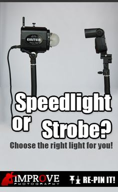 Learn the differences between speedlights and studio strobes for photography, and how to get started with lighting for CHEAP!