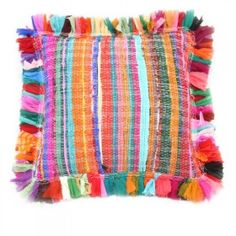 handmade recycled pillow