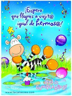 postales-cumpleaños-amigos-gratis-tarjetas-especiales-facebook-hombres-especial-distancia-querido (2) - Cumpleaños Club Happy Birthday Wishes, Lets Celebrate, E Cards, Quote Posters, Birthday Quotes, Special Day, Birthdays, Crafty, Google