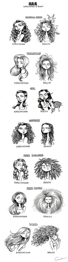 Having A Very Complicated Relationship With Your Hair // tags: funny pictures - funny photos - funny images - funny pics - funny quotes - #lol #humor #funnypictures