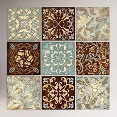 Venetian Tiles Wall Stickers - put them into matte frames for nice wall decor Mosaic Tiles, Wall Tiles, Vinyl Tiles, Tiling, Wall Stickers, Wall Decals, Wall Art, Vinyl Decals, Art Chinois