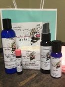 Emu oil is like the fountain of youth, smoothing out lines and penetrating deep to stimulate your collagen. Shrinks acne swiftly, aids in healing bites, burns, and cuts and calms irritated skin caused by eczema, rosacea, or psoriasis. Our kit contains a 1 oz. emu oil, an Emu oil and Goat milk soap bar, Baby Olive Your Way Face and Hand cream, Tanner than Everyone Else tinted face lotion emu oil, and a lip balm of your choice.  Please put your lip flavor preference in the comments box.