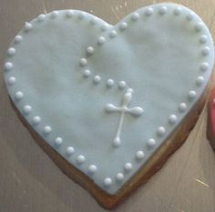 Heart shaped Rosary Cookies