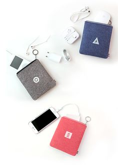 Tech savvy & fashionable! Be the trendsetter you are with this cute, handy wool felt charger pouch! Inside, it is divided into 2 pockets for you to be organized & on top of your game. Carry your daily essentials like phone, iPod, laptop charger, earphone & so much more. The keychain zipper will look so chic attached to your bag or suitcase. Add your keys too! Wait what, there's more! It's water resistant & makes the perfect gift for your loved ones! Now that deserves a Double A (ha-ha)! ^_^