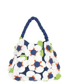 Yvonne MINI Flower Making, Crochet Flowers, Hand Crochet, Flower Power, Reusable Tote Bags, Pure Products, Chic, Mini, Cotton