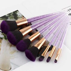 Find More Makeup Scissors Information about Fadvan New Crystal Brushes Make Up 7 Pcs Unicorn Horn Makeup Brushes Pink Hair Blending Brush Cosmetic Brush Kits Sets,High Quality Makeup Scissors from Fadvan Makeup Lashes Store on Aliexpress.com