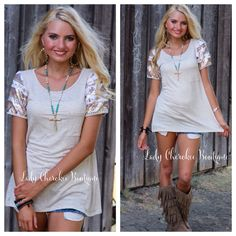 LA Lady BEIGE SEQUIN SLEEVE TOP Price: $34.00, FREE SHIPPING  #ladycherokeeboutique #womensfashion #fall #sequins #top
