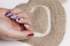 #4thofJuly #Mani Eye-Dyed Click the image to get the look #Essie