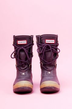 Hunter boots with laces