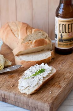 Homemade Beer Ricotta..sounds interesting..looks good.. I love ricotta..will try this~