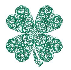 4-Leaf Clover machine embroidery design