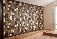 brown and white soft wall tiles for modern interior design
