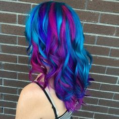 purple to blue gradient hair - Google Search