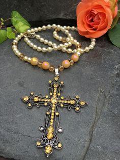 cross necklace, Made by Arja Hannele Jewelry, Jewlery, Jewerly, Schmuck, Jewels, Jewelery, Fine Jewelry, Jewel, Jewelry Accessories