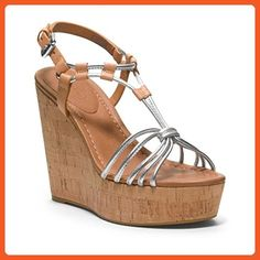 4ed15bcdece Coach Georgiana wedge sandals women s size 8 silver - Sandals for women (  Amazon Partner