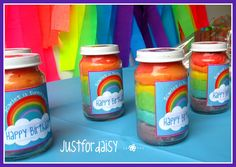 Just For Daisy: Easy to make microwave play dough. Cute individual jars for party favours or birthday gifts!