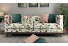 The contemporary floral #fabricsofaset is always set to enhance the house with its beauty. The pattern is wise for those who ever wish to have a relaxed aura. Checkout #WoodenStreet Berlin 3 Seater Sofa in Fabric, Rose Vineyard finish. Definitely You will love it.  #fabricsofa #floralfabricsofa #3seatersofa #sofasets