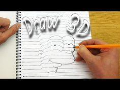 How to Draw 3D Objects that Pop off the Page [VIDEO] - https://magazine.dashburst.com/video/how-to-draw-3d-objects/