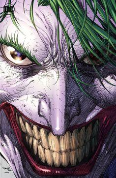 Mens Style Discover (W) Scott Snyder (A/CA) Francis Manapul. (W) Scott Snyder (A) Francis Manapul (CA) Jim Lee Scott Williams. Jim Lee Batman, Le Joker Batman, Joker Comic, Batman Art, Joker And Harley Quinn, Comic Art, Black Batman, The Joker, Photos Joker
