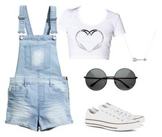 Untitled #2 by miha-saleva on Polyvore featuring polyvore, fashion, style, H&M, Converse and Adina Reyter