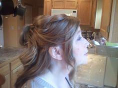 realistic half-up hair