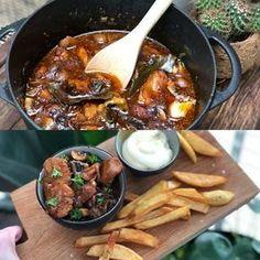 kip in bier gestoofd - Familie over de kook One Pot Meals, Kids Meals, Healthy Recipe Videos, Healthy Recipes, Vegetarian Recepies, Good Food, Yummy Food, Dutch Recipes, Tapas
