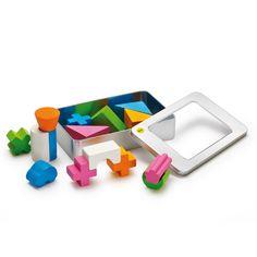 """Costruzioni mini - Creative è un completo di blochetti  di forme diverse in legno colorato, racchiuse in una scatola di alluminio tascabile <p><a title=""""confezione regalo per il giocattolo"""" href=""""http://www.hukkatoys.com/it/personalizza-il-tuo-giocattolo"""" target=""""_blank""""><img style=""""float: left;"""" title=""""confezione regalo"""" src=""""{{media url=""""wysiwyg/schedeprodotto/logo_confezione_regalo.jpg""""}}"""" alt=""""confezione regalo per il giocattolo"""" width=""""170"""" /></a></p> €27,00"""