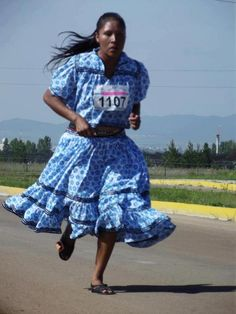 Maria Salome, ran in the 10k Marathon  2012 and won by far!, Without running shoes, without proper clothing, competing only with great stamina and, mainly, with a big heart - proudly representing her land - Chihuahua and all of Mexico!
